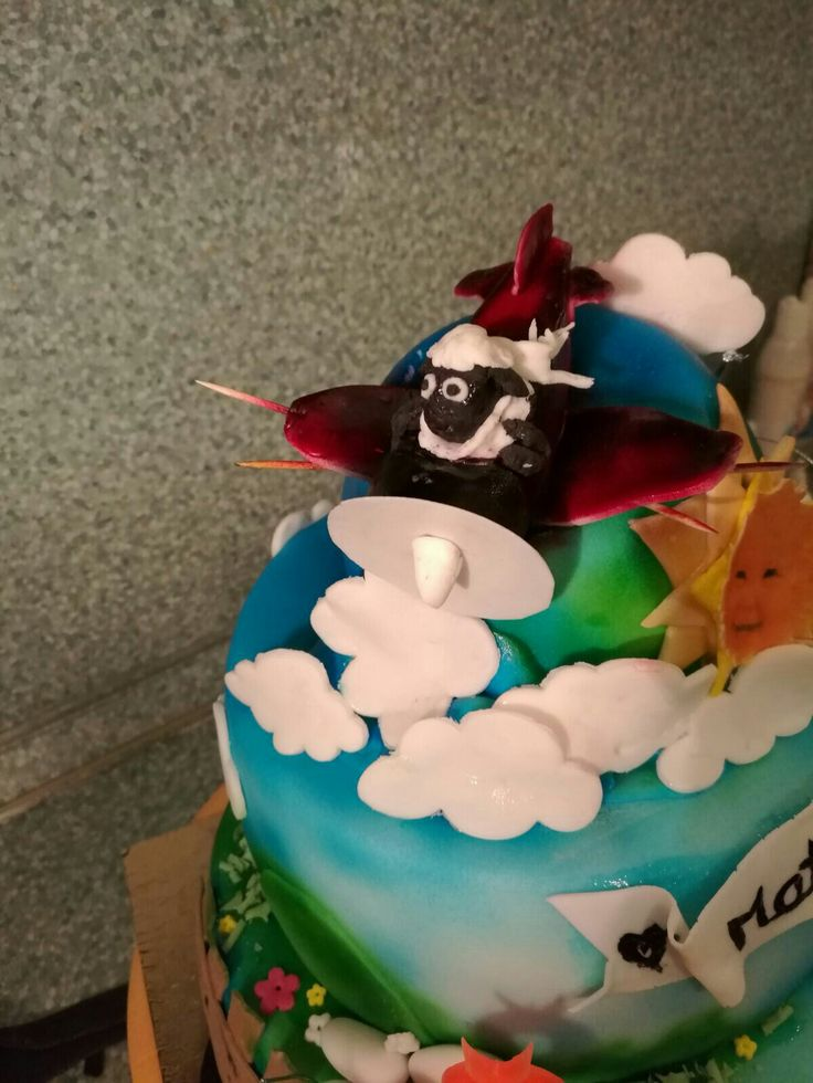 Detail 1_plane & helicopter cake