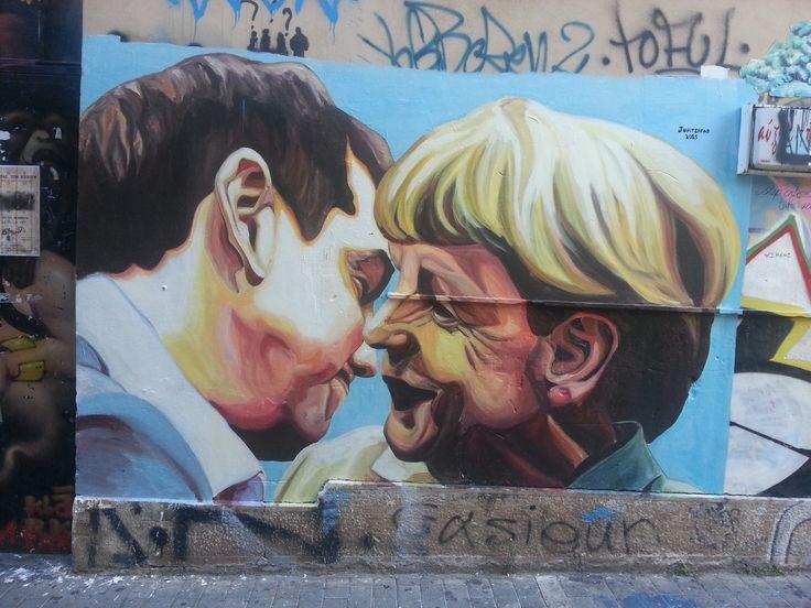 """ζωγραφική στον τοίχο..This is not just a painting, but a """"Painting on the wall""""! Athens has some great street art, which you all can explore again during our cultural walks during the Athens Cultural Weeks. Read here more about streetart and see more pictures: http://www.omilo.com/graffiti-and-street-art-in-greece/"""