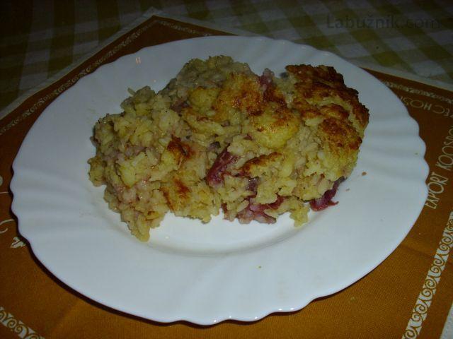 Rýžový nákyp z kompotu
