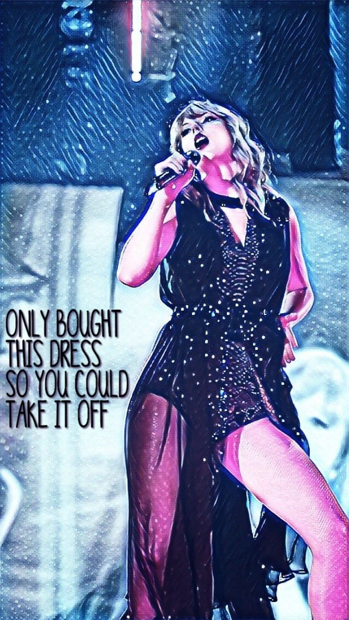 Taylor Swift Dress Music Lyrics Iphone Wallpaper