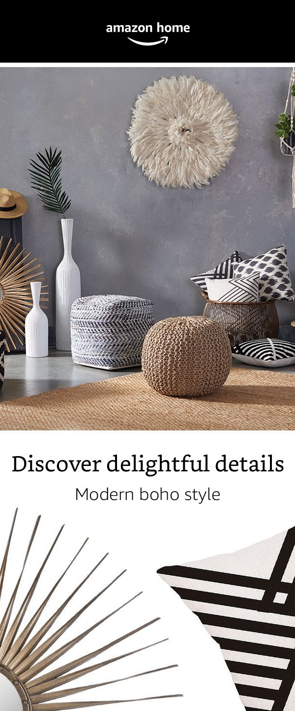 Discover delightful details with our modern boho style!