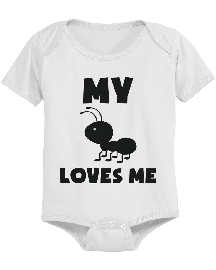 My Aunt Loves Me Funny Baby Onesies Gift for Niece or Nephew Infant Bodysuits