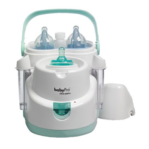 A life saver in the middle of the night!  It keeps two bottles cold until you need to warm one for the little one.  Nursery Baby Bottle Warmer