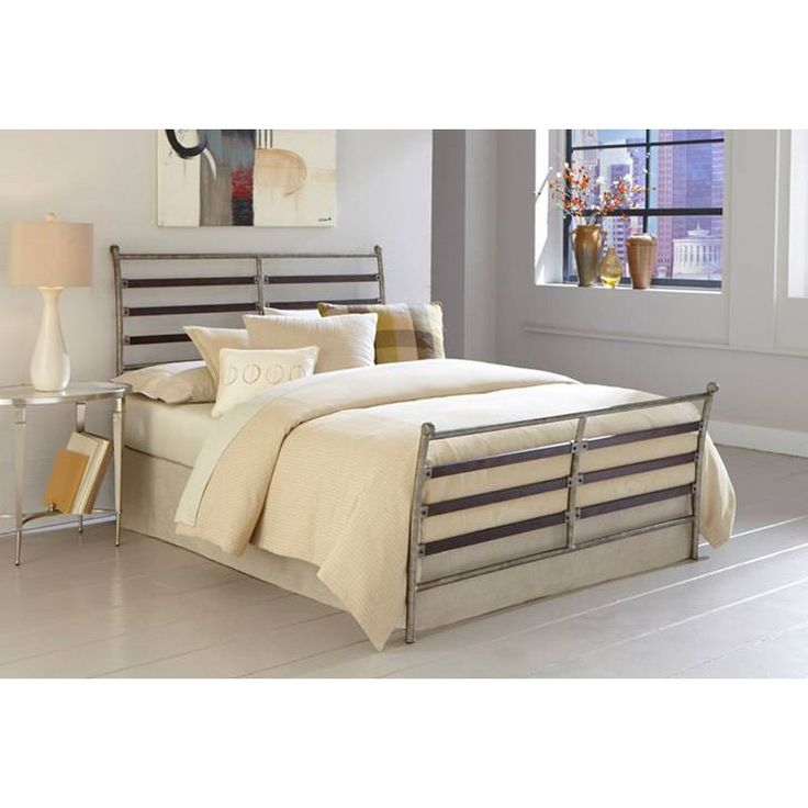 Element Sleigh Bed - Add a touch of industrial chic to your bedroom with the Element Sleigh Bed. Break from traditional sleighs with this handsome design. Its contemporary...