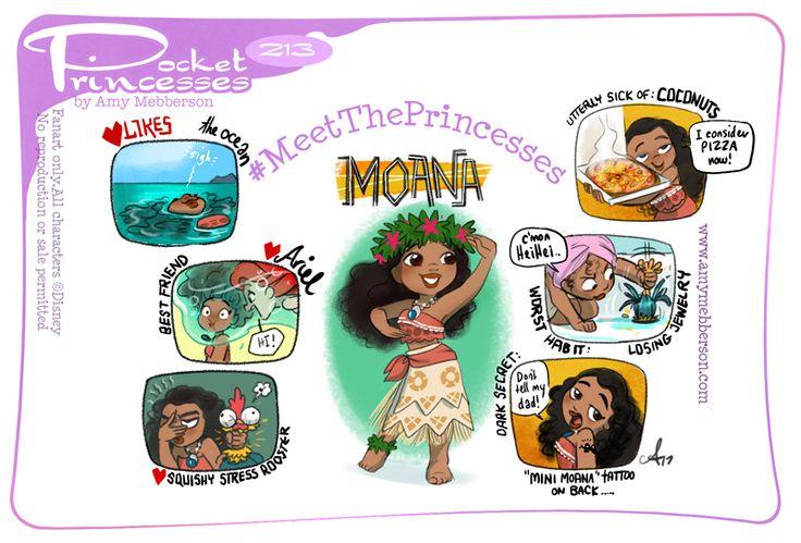 Pocket Princesses 213: Meet Moana!  Please reblog, don't repost, edit or remove captions  Facebook - Instagram