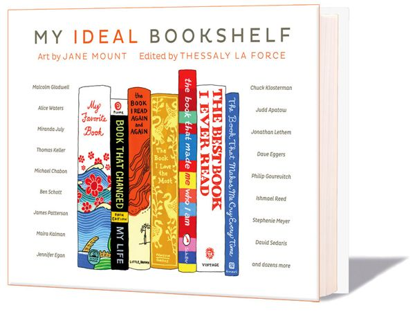 The Ideal Bookshelf Book - cultural icons share their favorite bookshelves - beautiful book! #literature