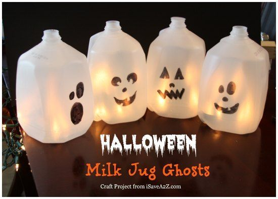 25 best ideas about milk jug ghosts on pinterest for Glow in the dark paint for real pumpkins