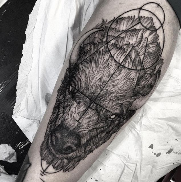 Bison Tattoo by Fredao Oliveira - TATTOOBLEND