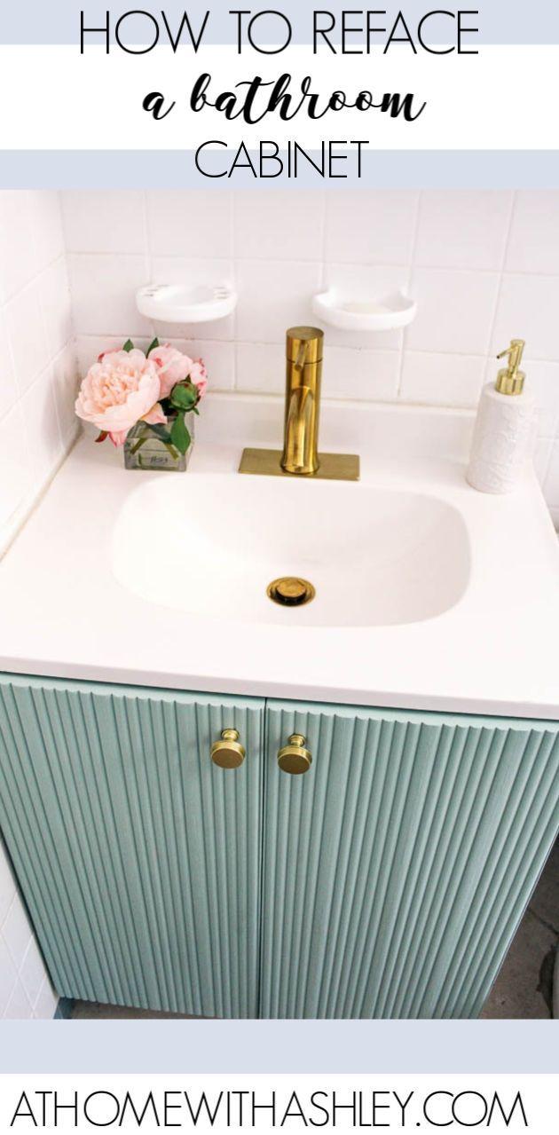 Fluted Bathroom Cabinet Refacing Diy Bathroom Cabinets Diy Diy Cabinet Doors Cabinet Door Makeover