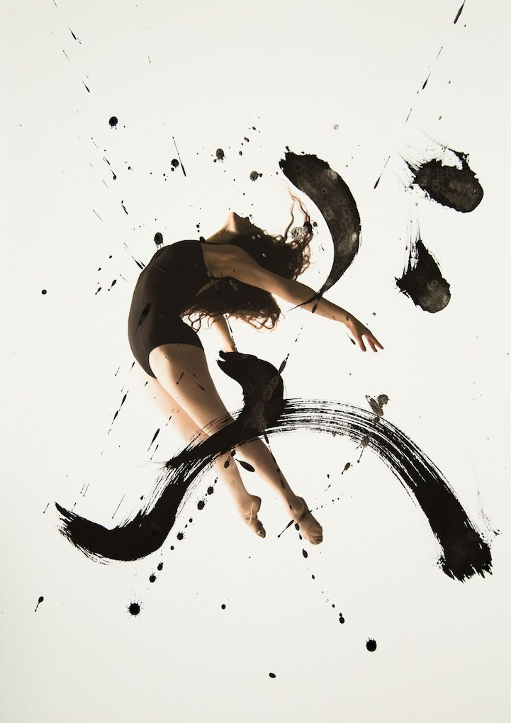 Haley Friesen and San Francisco-based calligraphy artist Nobuhiro Sato