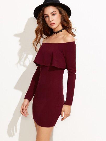 Kleid rot schulterfrei