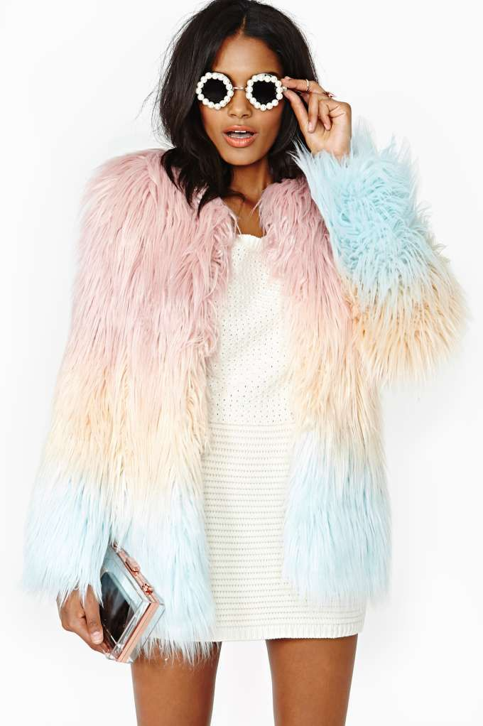 American Retro Marjo Faux Fur Coat…