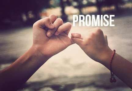 Beloftes zijn ook erg belangrijk. Afspraak is afspraak. Als je een belofte doet aan iemand, moet je die nakomen. Duidelijkheid vind ik dan erg belangrijk. (Dat heeft misschien ook een beetje te maken met structuur)