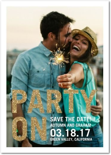 Delightful Party - Signature White Save the Date Cards - Picturebook - Dijon - Neutral : Front