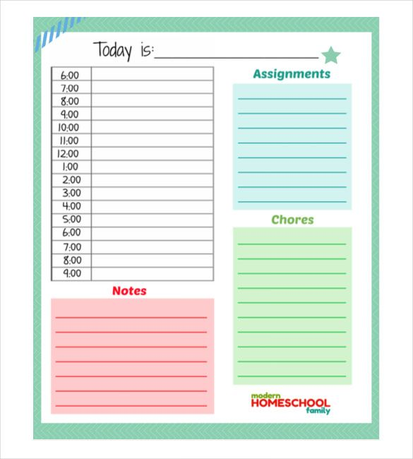 31 Daily Planner Templates Pdf Doc Daily Planner Template