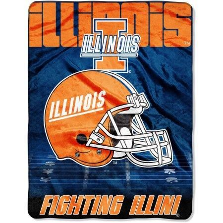 "Illinois Fighting Illini 60"" x 80"" Oversized Micro Raschel Throw Blanket"