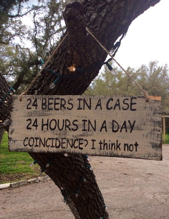 Reclaimed wood sign/ 24 beers in a case by SimplyRustiqueDecor, $20.00
