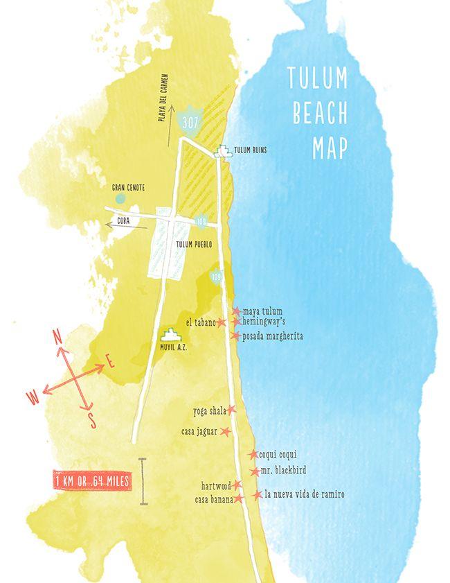 Tulum Beach Map | The Kitchy Kitchen