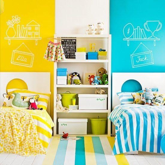 Chambre double mixte pour enfant