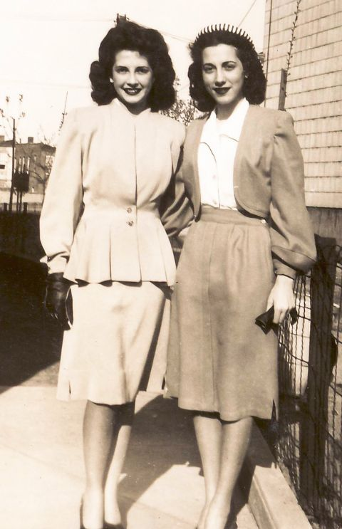 Fashion 1940s Two Female Models Flirty 40s Style Evening: 263 Best Images About Vintage Fashion 1940s On Pinterest