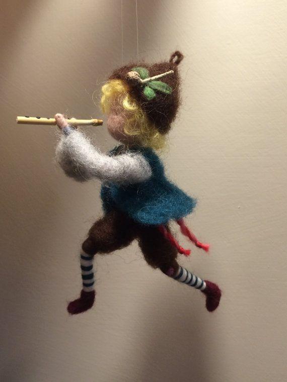 Muñeca afecte aguja Waldorf inspiró Pastor con una por DreamsLab3
