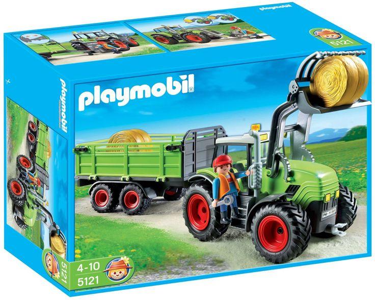 Playmobil - 5121 - Jeu de construction - Grand tracteur avec remorque: Amazon.fr: Jeux et Jouets