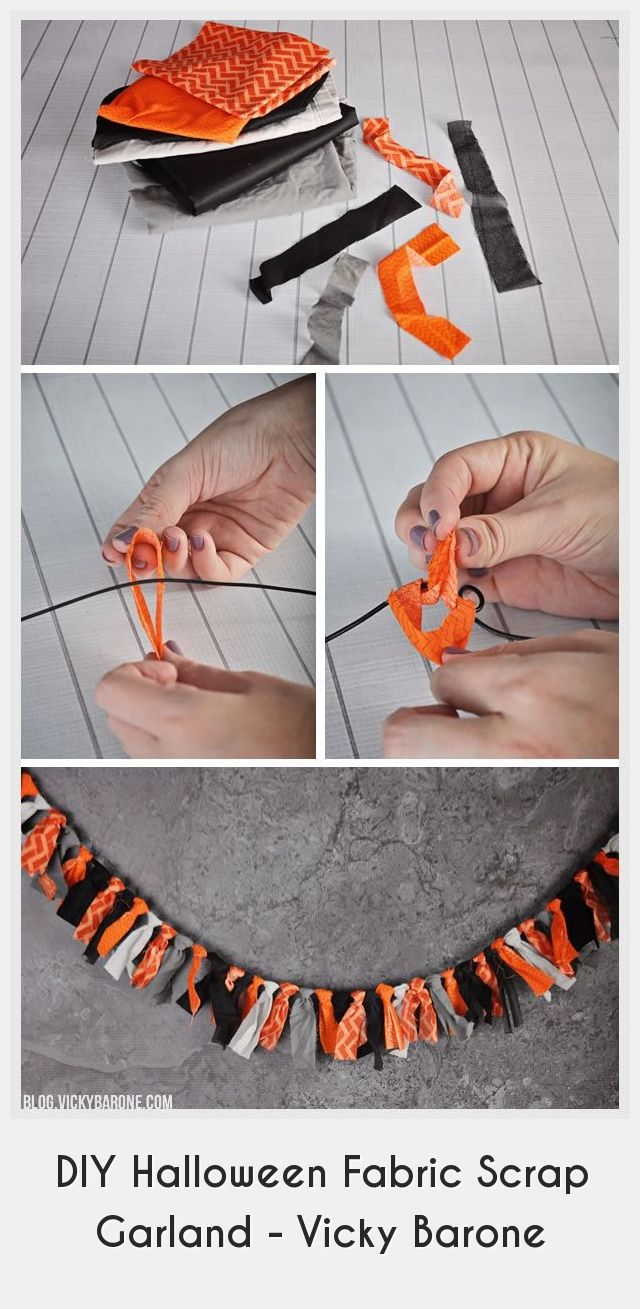 Vicky Halloween 2020 Diy Halloween Decorations 32144 DIY Halloween Fabric Scrap Garland