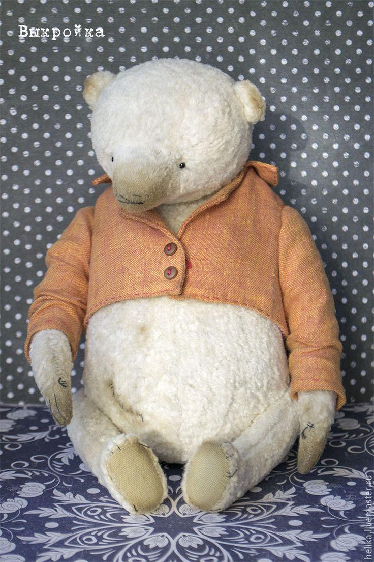 Купить Выкройка медведя Луша - выкройка, выкройка pdf, выкройка мишки Тедди, выкройка мишки