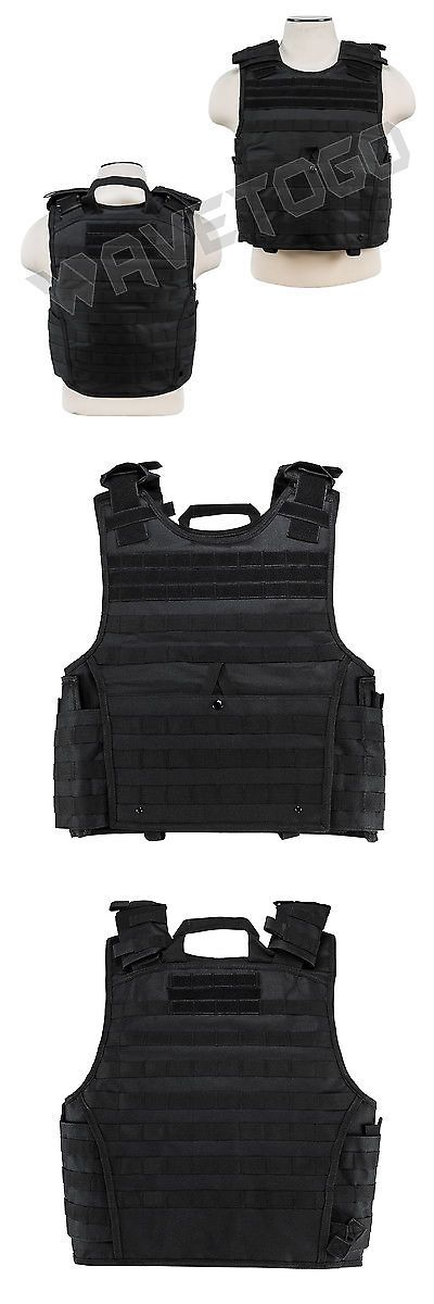 Chest Rigs and Tactical Vests 177891: Vism Ncstar Swat Tactical Armor 2Xl+ Molle Expert Plate Carrier Body Vest Black -> BUY IT NOW ONLY: $49.95 on eBay!
