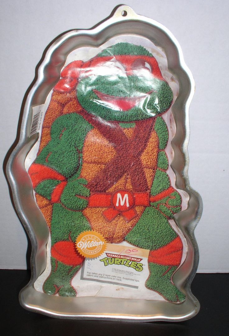 Teenage Mutant Ninja Turtles Cake Pan TMNT - 1989 Wilton Licensed by Surge - Long Retired - Never Used. by SMNantiques on Etsy
