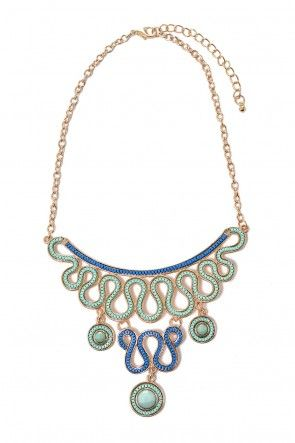 Karla Statement Necklace in Green