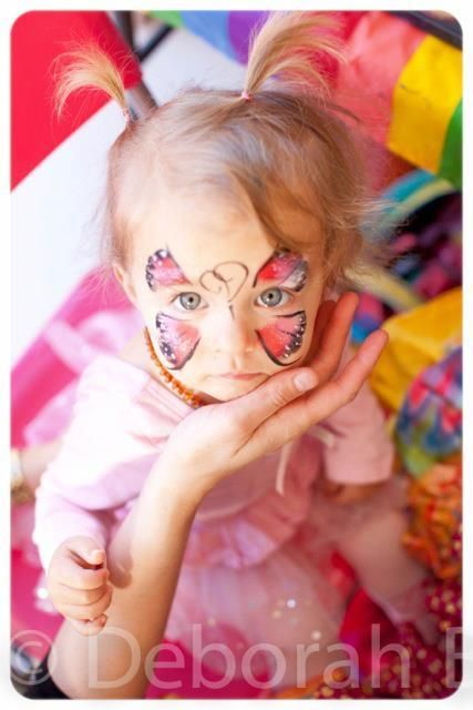 "girlie face paint - Photo 4 of 55: Carnival/Circus / Birthday ""Annabelle's Circus Party"" 