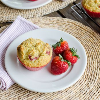 These gluten-free, grain-free Strawberry Paleo Muffins are perfect for breakfast or an afternoon snack — a great way to use fresh strawberries this season. cookeatpaleo.com