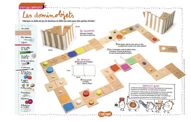 Les dominobjets : un bricolage pour réaliser des dominos originaux. (Extrait du magazine Astrapi n°836, pour les enfants de 7 à 11 ans)