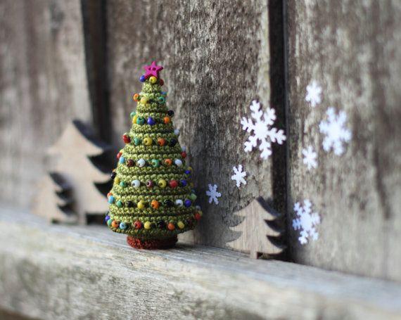 Christmas Tree Crocheted Christmas Tree Christmas by FancyKnittles
