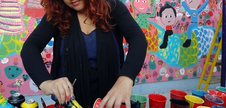 Fio Zenjim 2016. Colective Children Mural for Casa del Migrante de la Madre Asunta, Tijuana B.C.