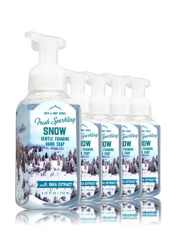 Fresh Sparkling Snow - Gentle Foaming Soap - Bath And Body Works
