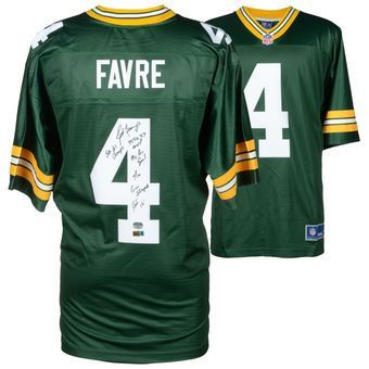 Brett Favre Green Bay Packers Fanatics Authentic Autographed Green Proline Jersey with Career Stats - Limited Edition of 12