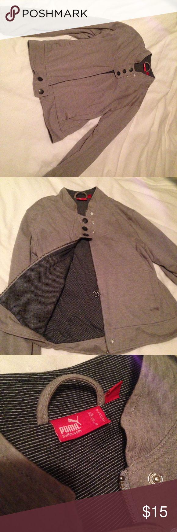 Puma jacket Super cute Puma gray zip up jacket . Puma Jackets & Coats