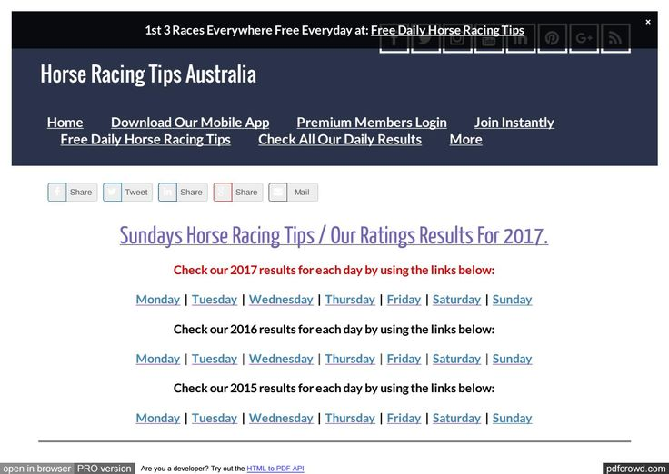 Sundays July 16th Horse Racing Tips Today's Results