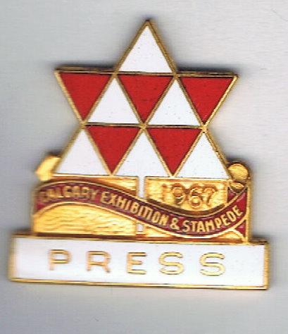 1967 Calgary Stampede Press pin
