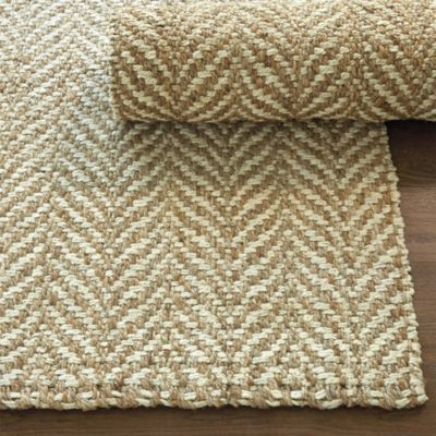 Dining Room Rug Option---Leafy Herringbone Jute Rug from Ballard Designs