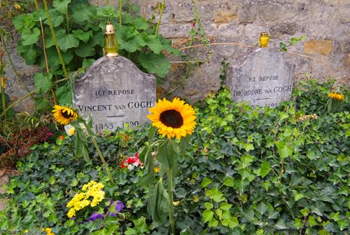 Sunflowers at Van Gogh's grave