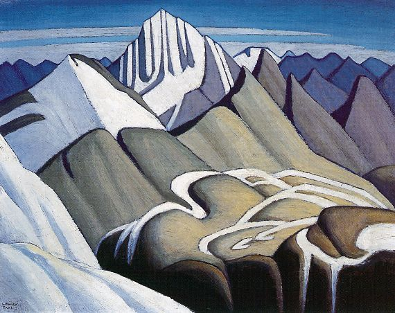Lawren Harris - Mountain Sketch c.1924 ~ Lawren Stewart Harris, CC (October 23, 1885 – January 29, 1970) was a Canadian painter. He was born in Brantford, Ontario and is best known as a member the Group of Seven who pioneered a distinctly Canadian painting style in the early twentieth century.