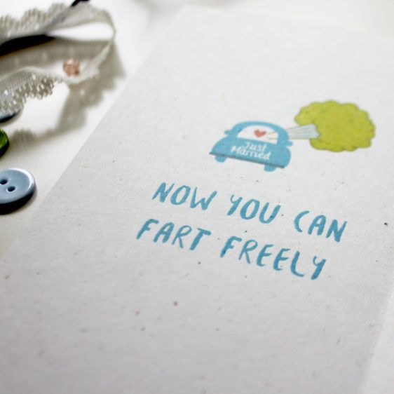 Now you can fart freely! Wedding congratulations card for a basketball and gym lover  | Wedding Card  | Funny | Farts | Varró Joanna Design | Handmade Wedding | Weddings | Wedding Ideas | DIY | Graphic Design | Inspiration | Graphic Designer