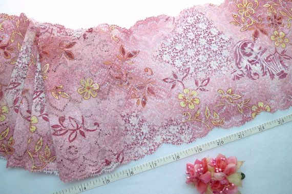 Stretch lace  embroidered & printed trim lingerie by raincrazy133, $7.99