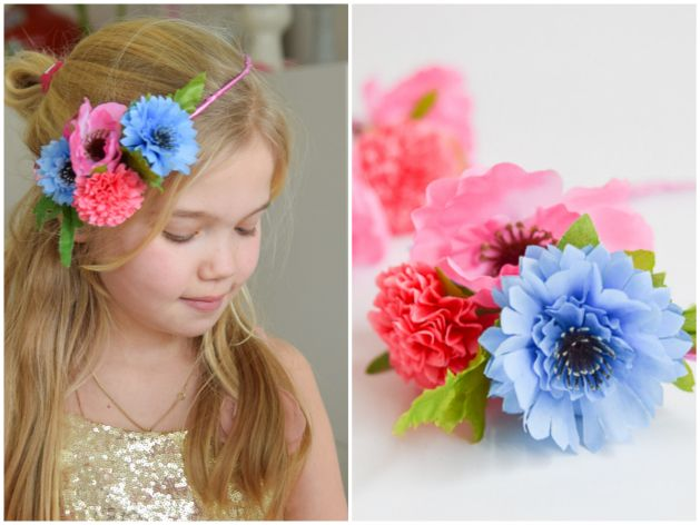 Bloemenkroon maken | Wimke | Goede ideeën moet je delen!