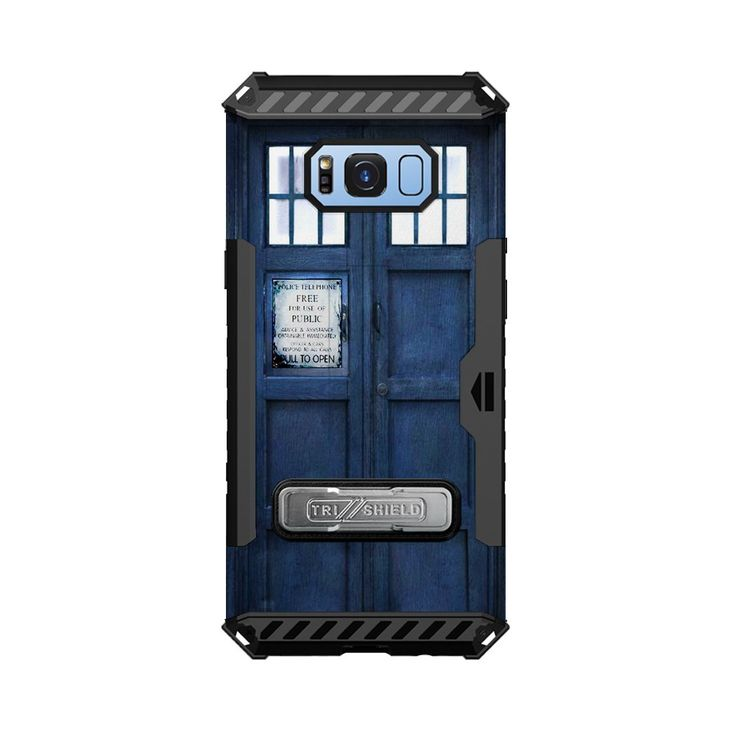 Samsung Galaxy S8 Trishield Hybrid Case with Kickstand Screen Protector and Card Slot By InfoposUSA Dr Who Blue Police Box. Hard Polycarbonate plastic shell with Flexible strength TPU layer allows for easy device install and full body phone protection. MILITARY GRADE SHOCK PROOF PROTECTION- Meets MIL-STD 810G-516.6 Drop Test Approved. Patented Tri Shield design with Reinforced four corner shock absorption and dispersion technology. ONLY BUY FROM INFOPOSUSATM. ANYONE ELSE SELLING THIS…