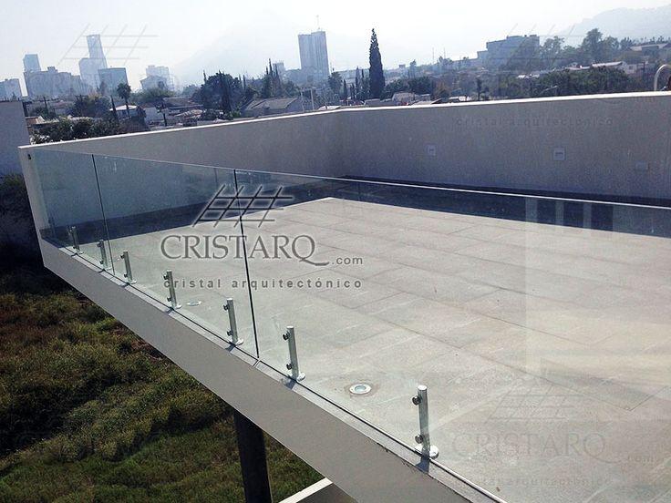 Barandal de cristal templado en terraza residencial - Terraza de cristal ...