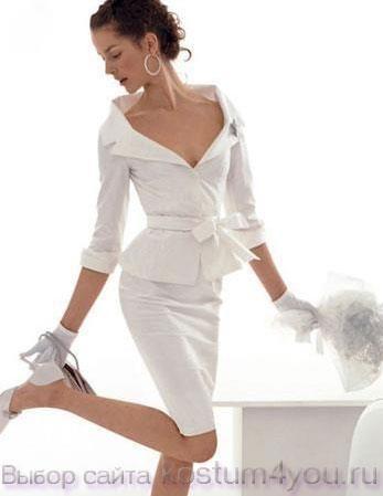 Фото свадебных женских костюмов